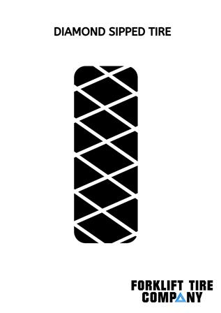 Diamond Sipped Polyurethane Tire